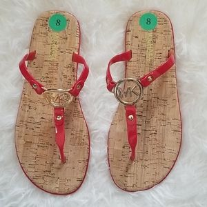 Michael Kors New Red and Gold Slippers Size 8 & 10